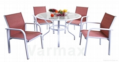 2016 American Style Synthetic Aluminum Dining Table and Chair Used Commercial Ou