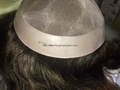 100% remy human toupee for men with NPU all around  3