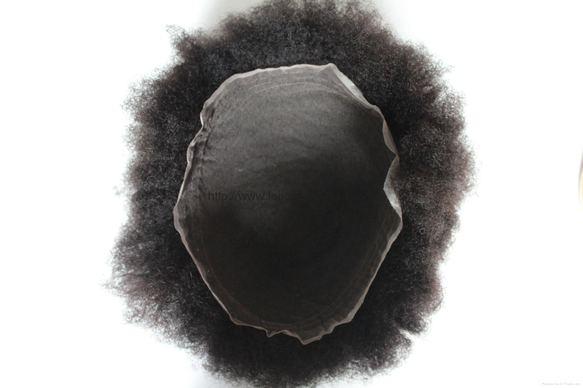 Afro wave toupee for men 3