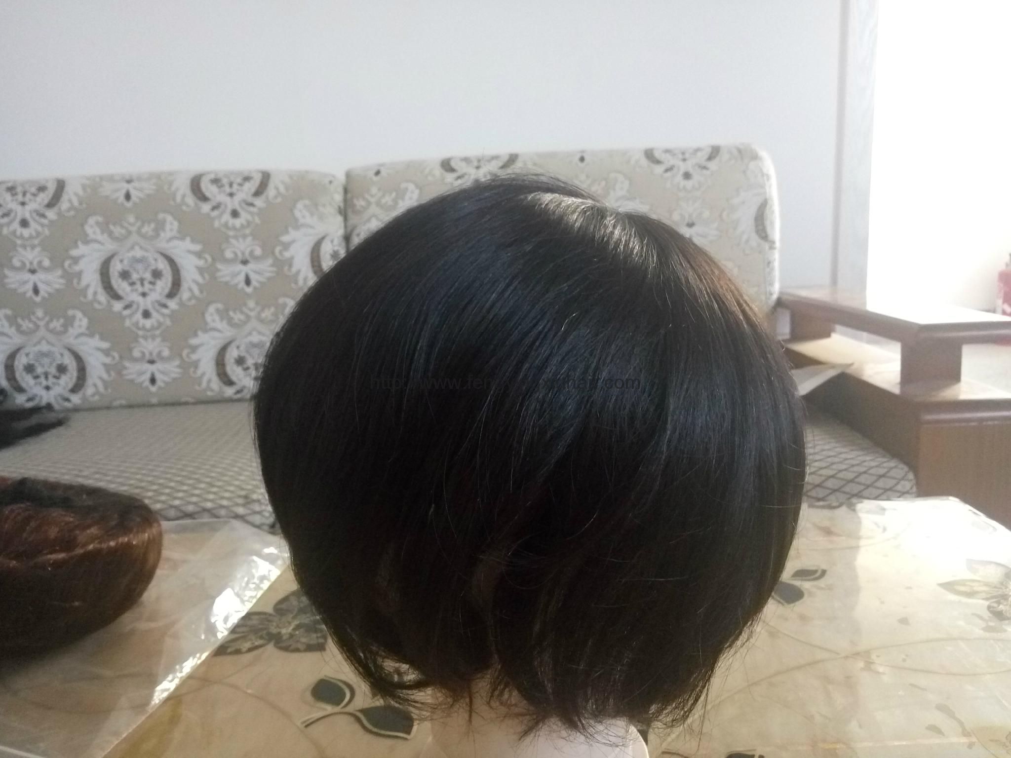 Indian Hair Super Thin Skin Invisible Knot Toupee 2