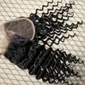 virgin brazilian human curly hair lace closure 3