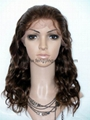 2016 women high temperature wire inclined long hair a little curly wig 3