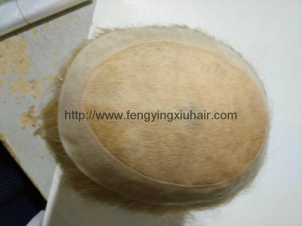 Wholesale Human Hair Thin Skin Injection Toupee for Women 2