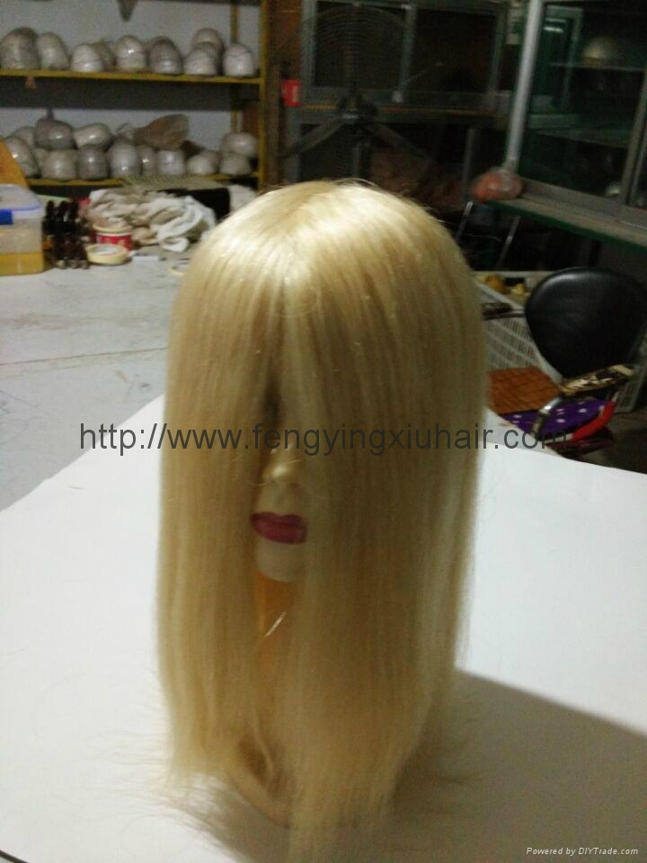 Wholesale Human Hair Thin Skin Injection Toupee for Women 3