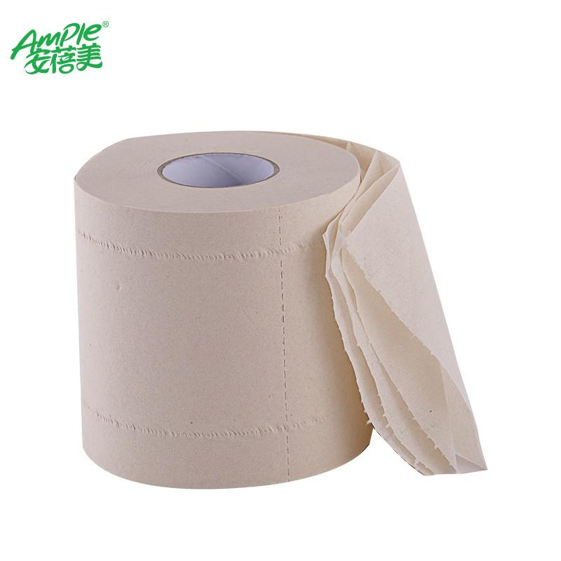 4 Ply Unbleached Bamboo Pulp Toilet Paper Bath Roll Tissue