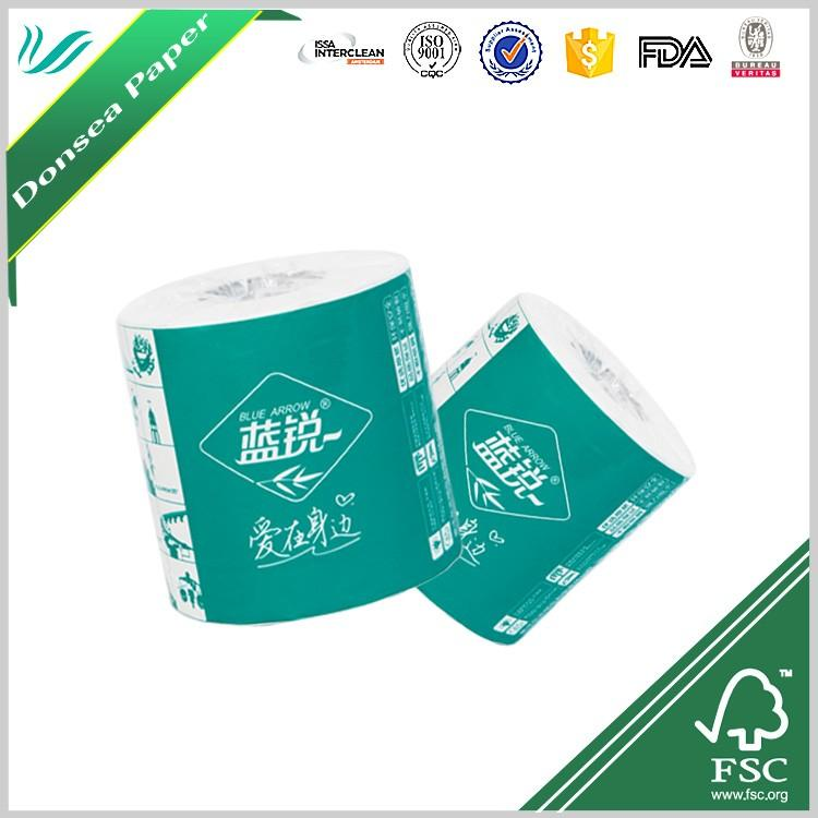 wholesale core standard roll 3 ply white toilet tissue roll china toilet paper 4