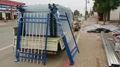 A型四横杆带双花锌钢护栏