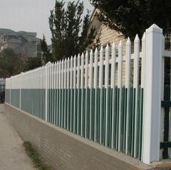 pvc彩色插片围墙护栏