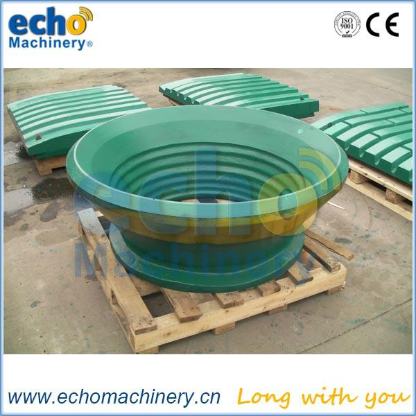 Metso cone crusher parts concave and mantle for HP100