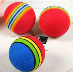 Hot Sale 3.5cm Colorful EVA Ball Cat and Dog Toy Soft Funny Ball Pet Toy