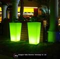 color changing LED flower pot