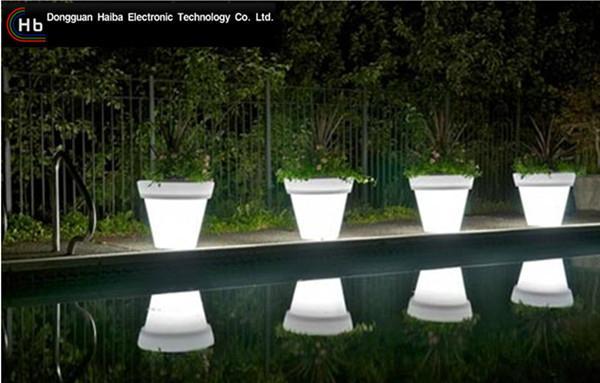 color changing LED flower pot  2