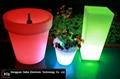 color changing LED flower pot  3