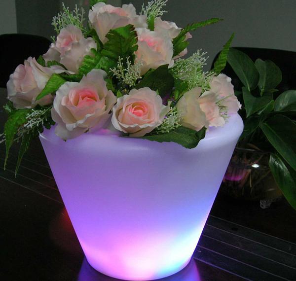 color changing LED flower pot  5