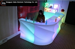 led bar counter table and chair
