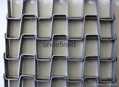 Quenching Furnace Mesh Belt Honeycomb metal mesh belt conveyor belt