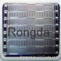 Chain plate mesh belt capable of punching
