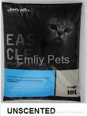 Emily Pets Bentonite Cat Litter Unscent 10L