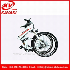 KAVAKI Folding electric mountain bicycle 26 Wheel Size 36V250W Electric Bicycle