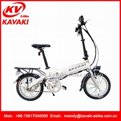 16inch KAVAKI Folding Electric Bike 250W High - Speed Brushless Motor israel ele