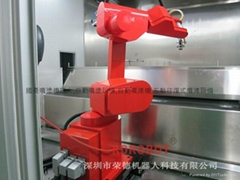 放指紋藥液自動噴塗機器人設備