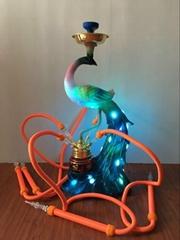 Multicoloured Peacock Arab Hookah