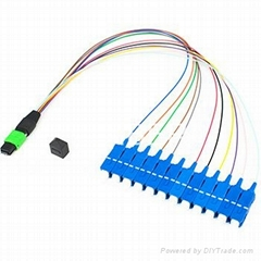 MTP/APC Male to 12SC/UPC Singlemode OS2  Fiber Optic Harness