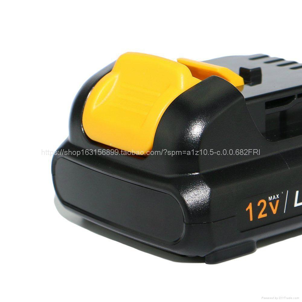 全新替代得伟 DeWALT款 DCB120 锂电池12v/10.8v  3
