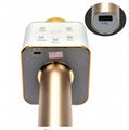 Portable Wireless Bluetooth Karaoke Microphone Q7 Stereo Bluetooth Speaker Recei 5