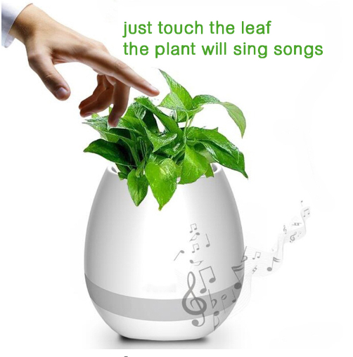 Smart Bluetooth MINI Wireless Music Flowerpot Speaker with Colorful LED Light an 1