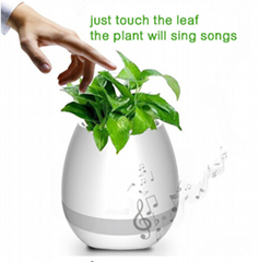 Smart Bluetooth MINI Wireless Music Flowerpot Speaker with Colorful LED Light an