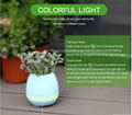 Smart Bluetooth MINI Wireless Music Flowerpot Speaker with Colorful LED Light an 10