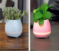 Smart Bluetooth MINI Wireless Music Flowerpot Speaker with Colorful LED Light an 11