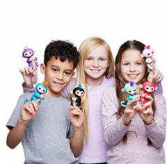 Lovely Mini Interactive Fingerlings Monkey Interactive Toys Finger Monkey Toys E