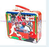 3D embossment lunch box with PVC window plastic handle and lock for kids 1
