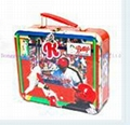 3D embossment lunch box with PVC window