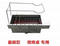 自动翻转烧烤炉子无烟木炭商用竹签木炭自动翻转烧烤机烤串炉
