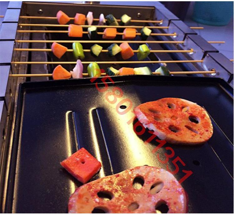 自动翻转烧烤炉子无烟木炭商用竹签木炭自动翻转烧烤机烤串炉 5