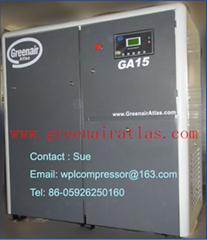 15kw Greenair Atlas screw air compressor GA15