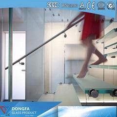 Anti slip SGP laminated  glass stair tread