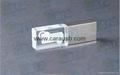 CaraUSB crystal usb flash 16GB LED light