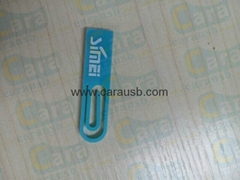 CaraUSB plastic mini paperclip usb flash memory paper clips giveaways print logo