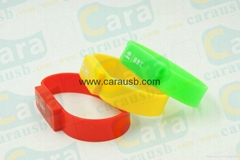 Cara USB silicone bracelet wristband shaped usb disk 8GB flash drives