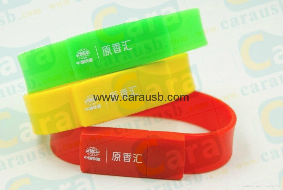 Cara USB silicone bracelet wristband shaped usb disk 8GB flash drives 3