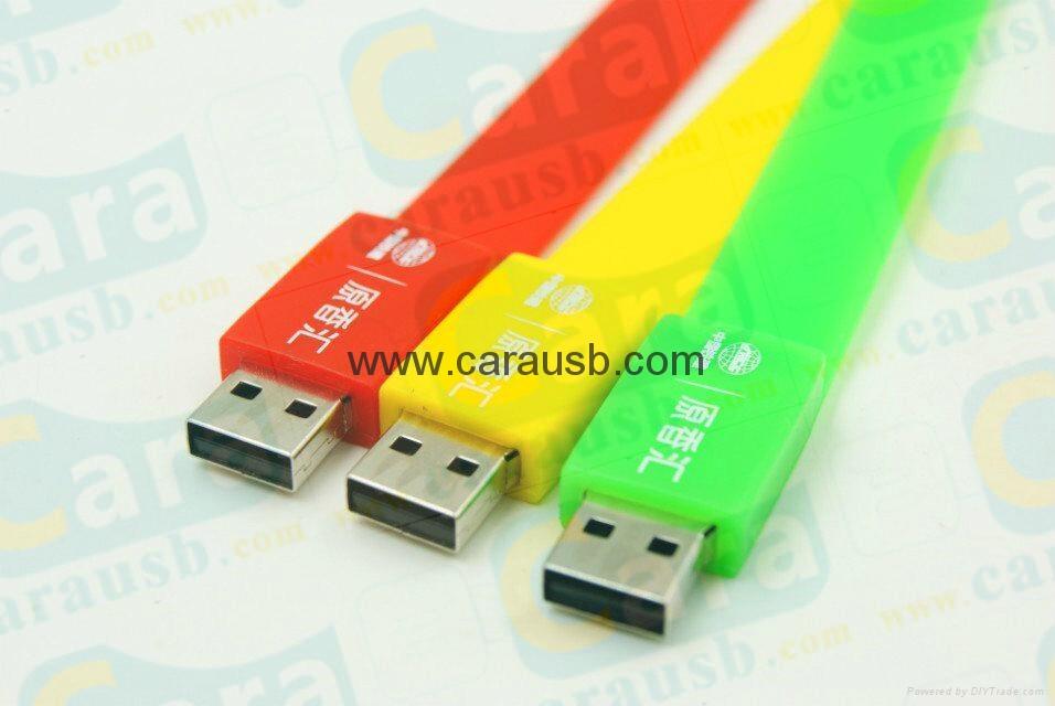 Cara USB silicone bracelet wristband shaped usb disk 8GB flash drives 4