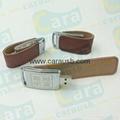 CaraUSB brown leather usb flash disk 8GB
