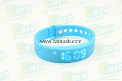 CaraUSB Pedometer shape usb flash drive LED light and watch display digital gift