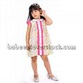 Sailboat applique dress for little girls