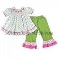 Lovely strawberry smocked set for baby girls - BB851 1