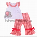 Cute elephant appliqued girl set -